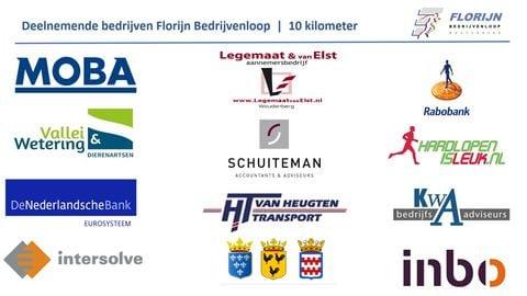 Deelnemende bedrijven op de 10 kilometer